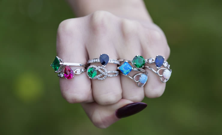 Anel com a Pedra certa para cada dedo!